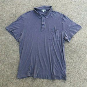 James Perse S/S MTG3702 Sueded Jersey Polo Shirt